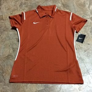 Women's Nike orange dri-fit T-shirt NWT